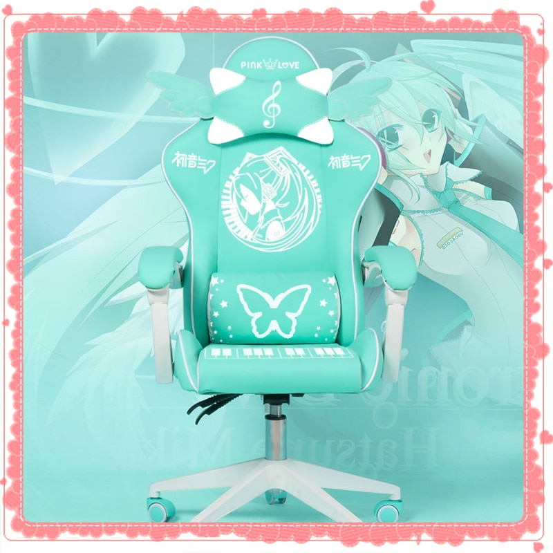 Home liftable chair LOL Internet cafe Sports racing chair WCG computer gaming chair Female anchor live broadcast rotatable chair high quality electronic sports chair home office computer chair multifunctional wcg internet game sports seat
