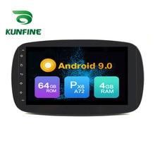 Android 9.0 Core PX6 A72 Ram 4G Rom 64G voiture DVD GPS lecteur multimédia autoradio pour Benz SMART 2012-2015 radio headunit