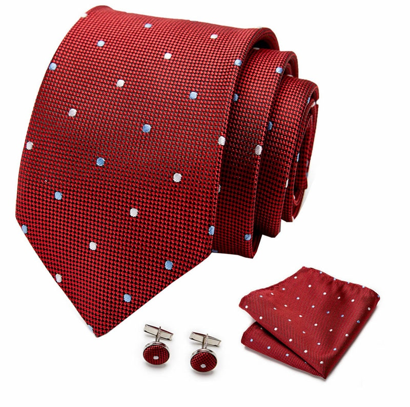 New Mens Tie 100% Silk Jacquard  Paisley Ties For Men Wedding Business Style Dropshipping Set shirt accessory