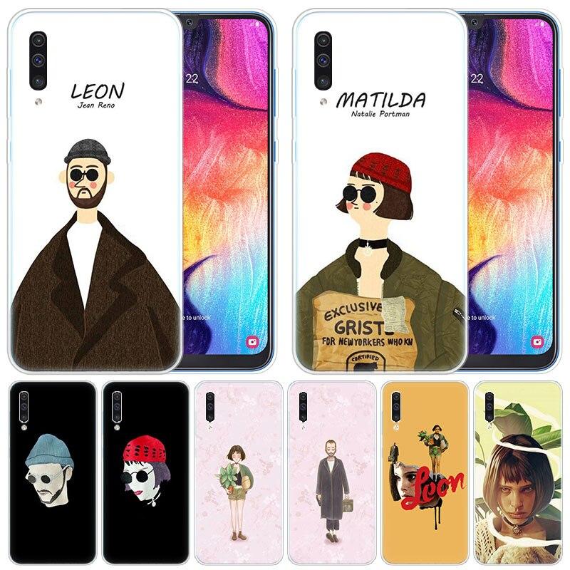 Funda de silicona de lujo película León y Mathilda para Samsung Galaxy A50 A70 A80 A40 A30 A20 A10 A20E A2 CORE a9 A8 A7 A6 Plus 2018