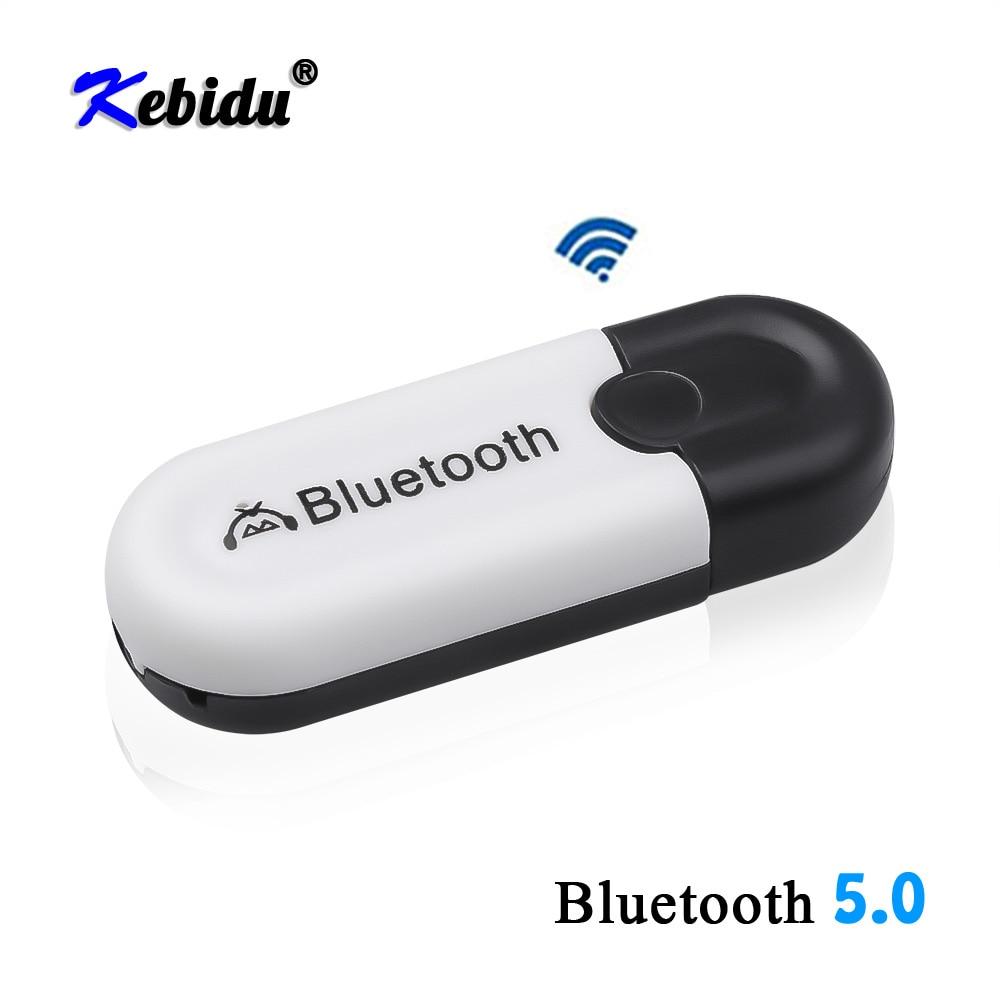 Kebidu 2 en 1 inalámbrico Bluetooth 5,0 adaptador receptor coche AUX Audio USB Dongle adaptador 3,5mm Jack para auriculares altavoz del coche Kit