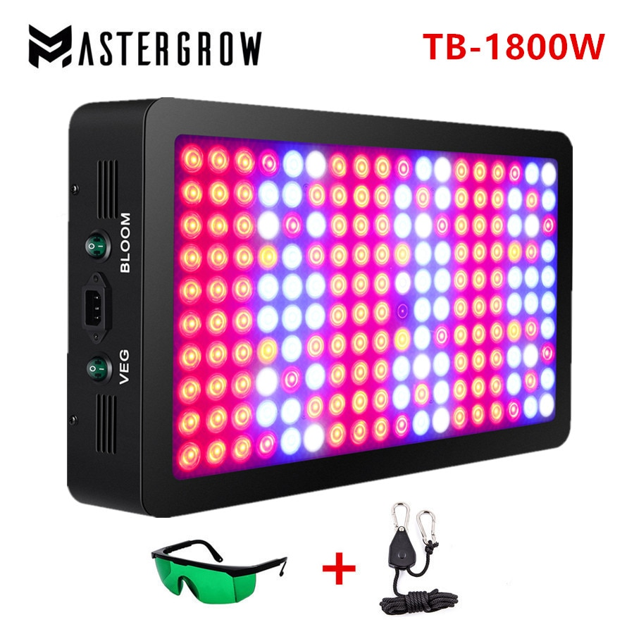 Double Switch 1800W Full Spectrum LED grow light with Veg/Bloom modes for Indoor Greenhouse grow tent plants grow led