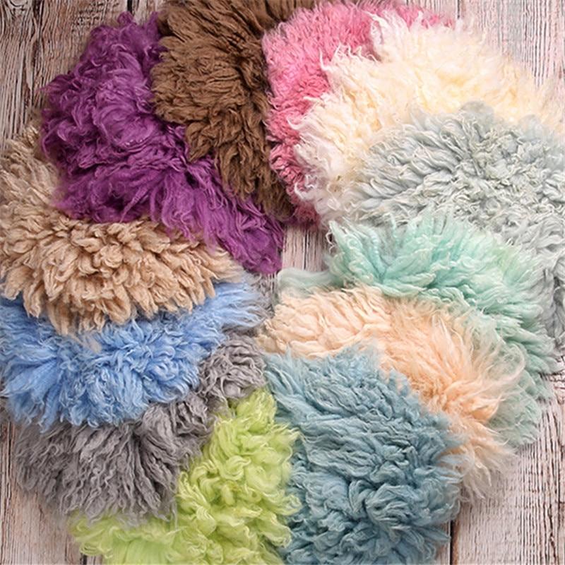 Baby Photography Blanket 30cm Australia Pure Wool Mats Background Flokati Props for Newborns Photo Shoot Fotografia Accessories