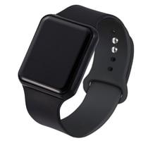 Модный силиконовый ремешок для часов унисекс, светодиодные цифровые спортивные женские часы, мужские наручные часы, женские цифровые часы