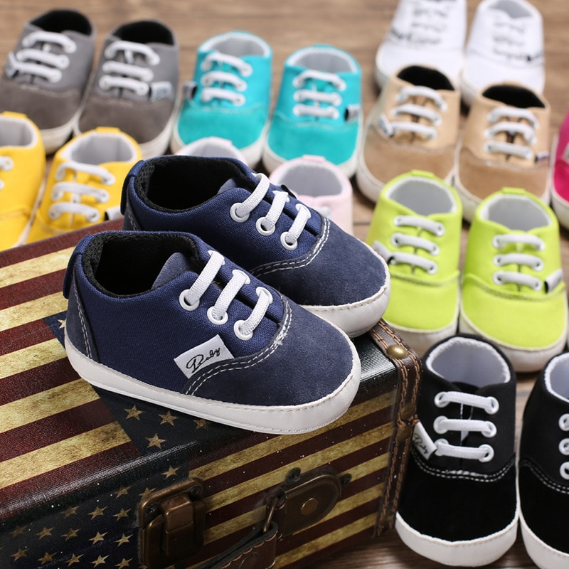 2018 spring autum new infant sports baby boy shoes of children 1 3 years toddler soft bottom hook Newborn Shoes Infant Toddler Baby Boy Girl Spring Autumn Soft Bottom Spring Canvas Shoes Walkers Newborn 0- 18M