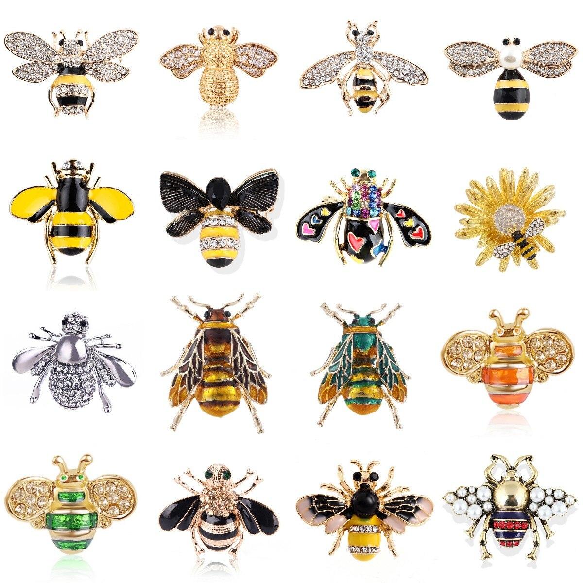 Женская-Милая-Нежная-брошь-в-виде-пчелы-с-кристаллами-Стразы-модные-ювелирные-изделия-булавка-брошь-эмалированная-бижутерия-подарки-для