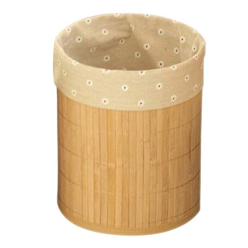 Бамбуковый мусорный бак складной мусорный бак Bas, может использоваться в офисе, учебе, ванной, гостиной и т. д.