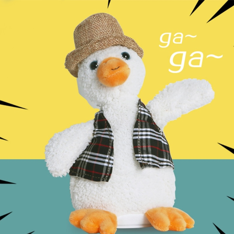 2021 New Kids Talking Toy Duck Repeat What You Say Plush Toys Girls Electric Stuffed Doll