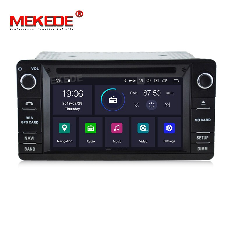 8core 2Din Android 8 reproductor de DVD Multimedia para coche MITSUBISHI OUTLANDER XL GPS automotriz pantalla táctil Radio Estéreo cámara de visión