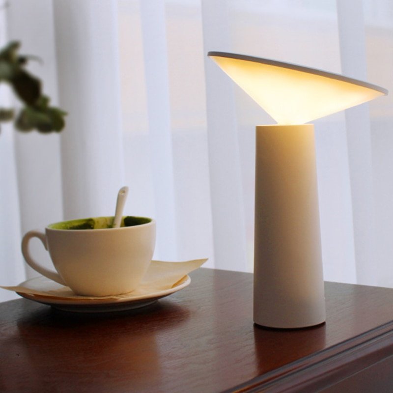 LED سطح المكتب ضوء الليل ضوء مصباح إضاءة البار RechargeableTouch ثلاثي اللون حماية العين مصباح مكتب للقراءة السرير طاولة لغرفة النوم مصباح