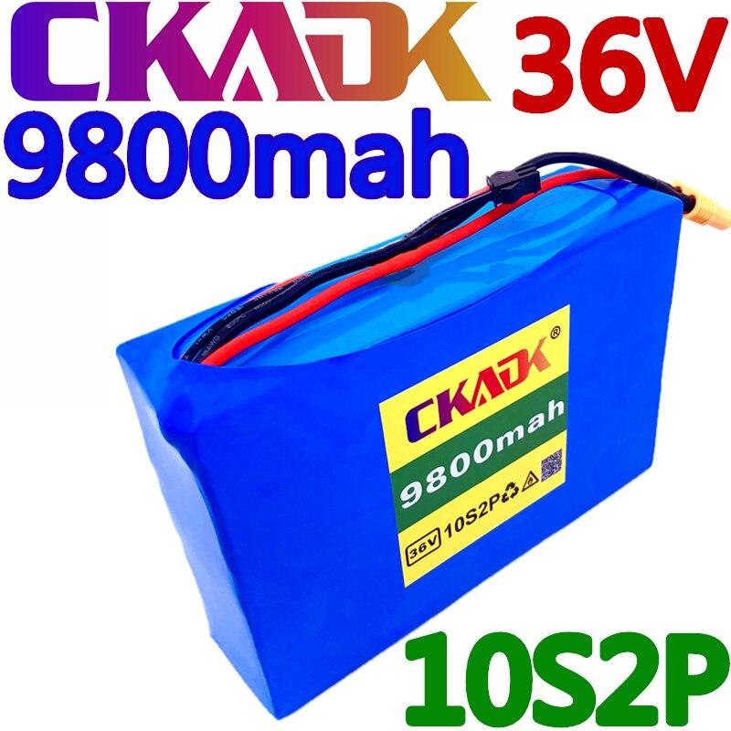 CKADK-بطارية ليثيوم أيون للدراجة الكهربائية ، لوح التزلج ، لوح التزلج ، 36V ، 9.8Ah ، 450w ، 18650 ، 42V ، 37V ، 35E ، XT60 ، SM 2P