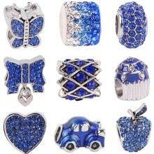 2020 Nieuwe Zilveren Kleur Hart Kralen Charm Strik Hanger Fit Originele Brand Charms Armband Diy Fijne Sieraden Gift Geven Vrouwen meisje