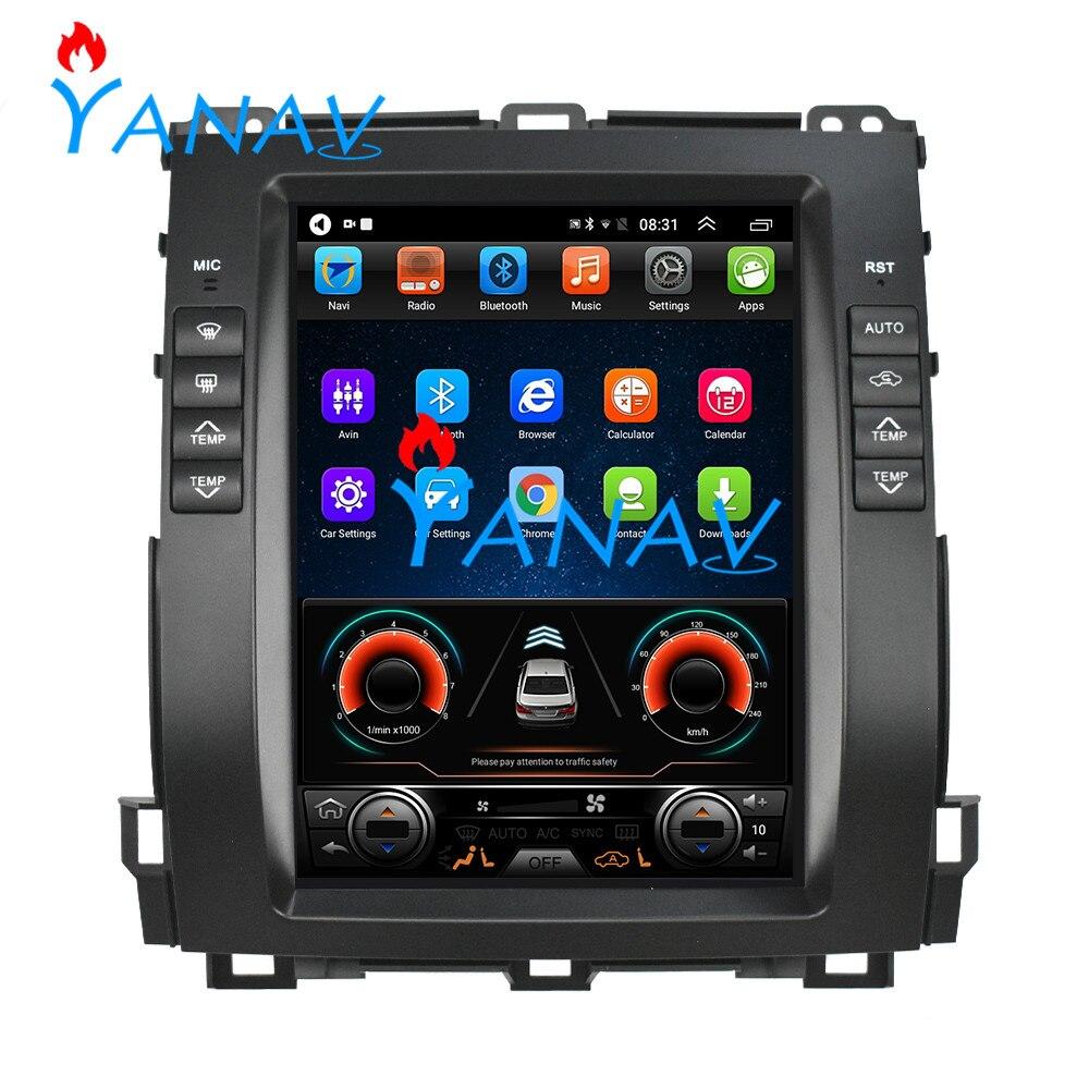 Tesla style Android 9.0 voiture GPS navigation pour Toyota-Land Cruiser Prado 2002-2009 voiture Auto radio écran tactile auto Radio GPS
