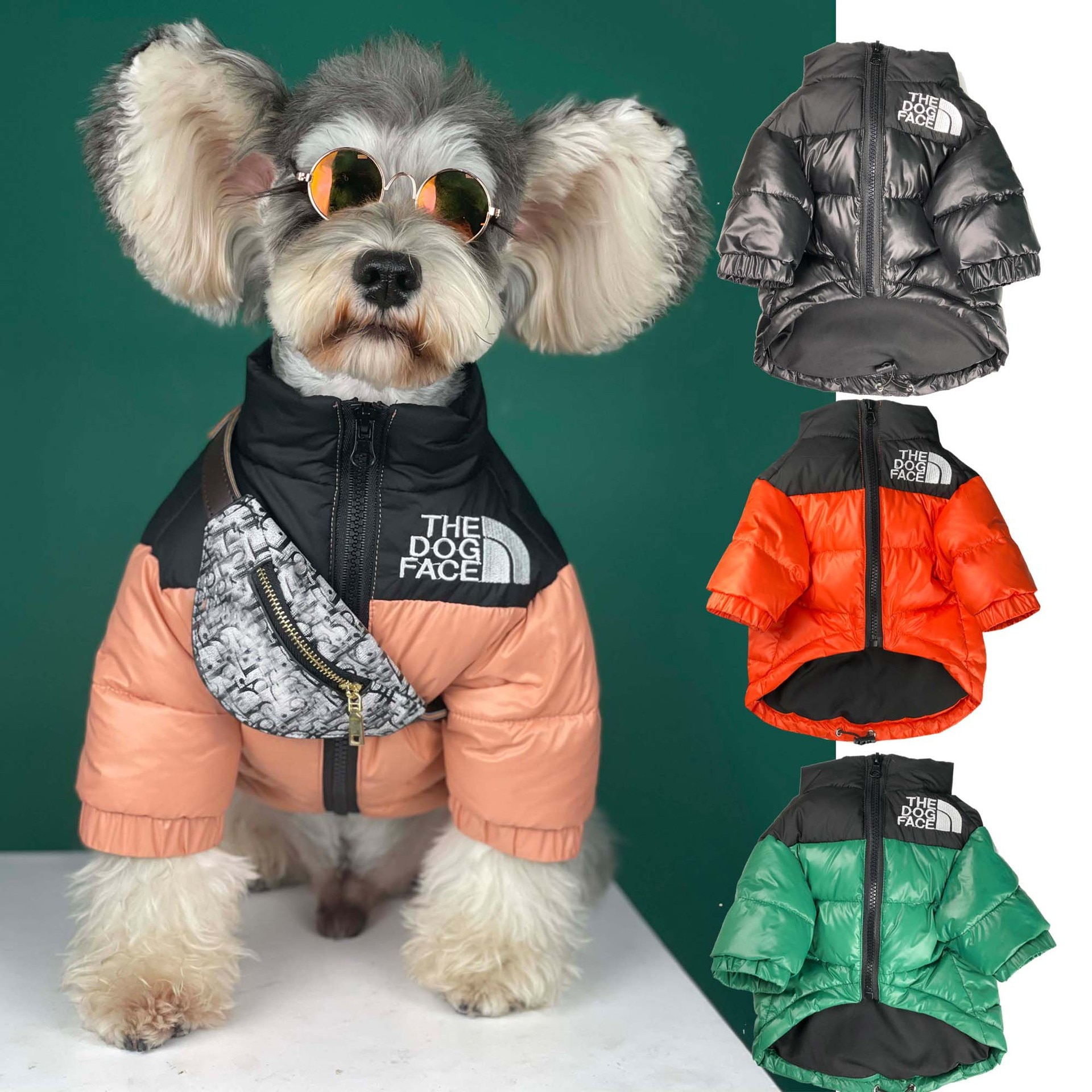The Dog Face Winter Pet Dog Down Jacket Clothes for Small Medium Dogs,Warm Thick Stitching Pet Coat