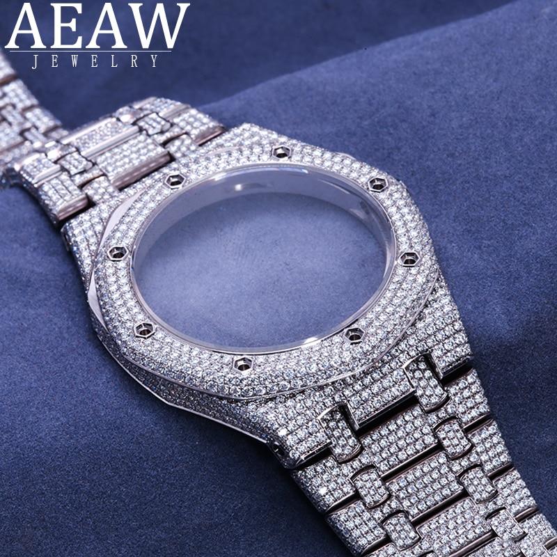 خدمة ساعة حسب الطلب. يمكن إضافة الماس ، cvd الماس ، مويسانيتي على الساعة. (ساعة ترسل لنا)