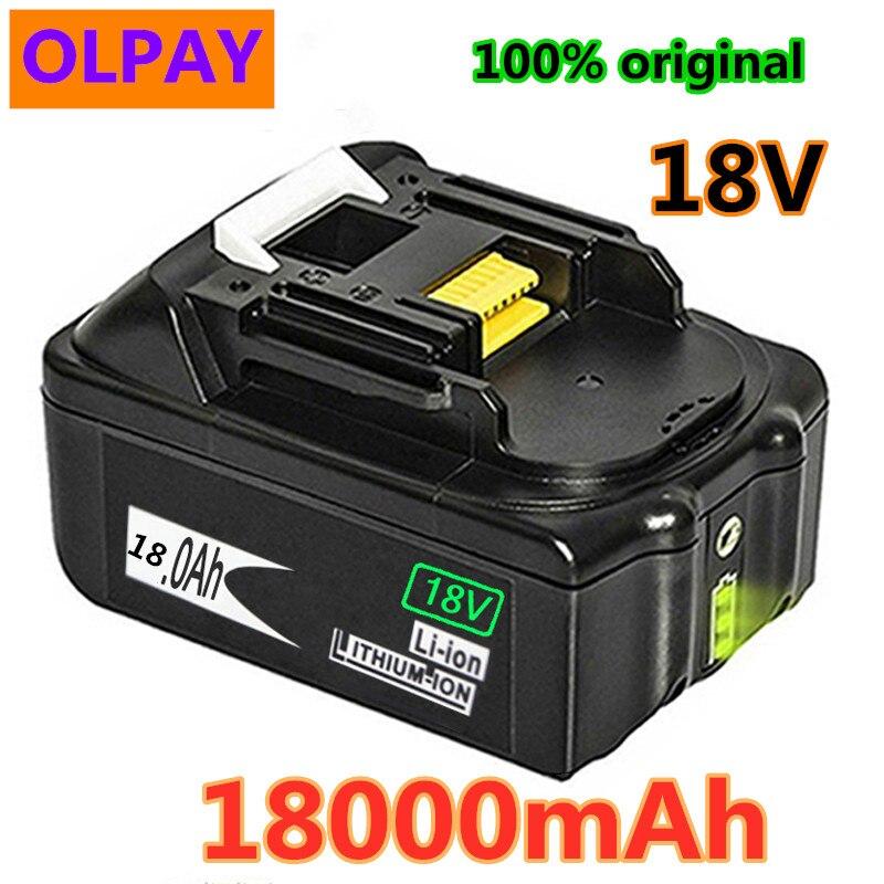 Original para makita 18 v 18000 mah 18.0ah recarregável bateria de ferramentas elétricas com led li-ion substituição lxt bl1860b bl1860 bl1850