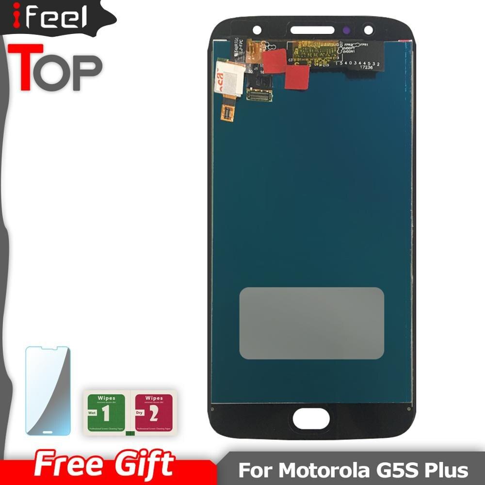Para Motorola Moto G5S Plus XT1802 Xt1803 XT1805 Xt1086 LCD pantalla táctil montaje de sensor digitalizador para Moto G5s Plus LCD