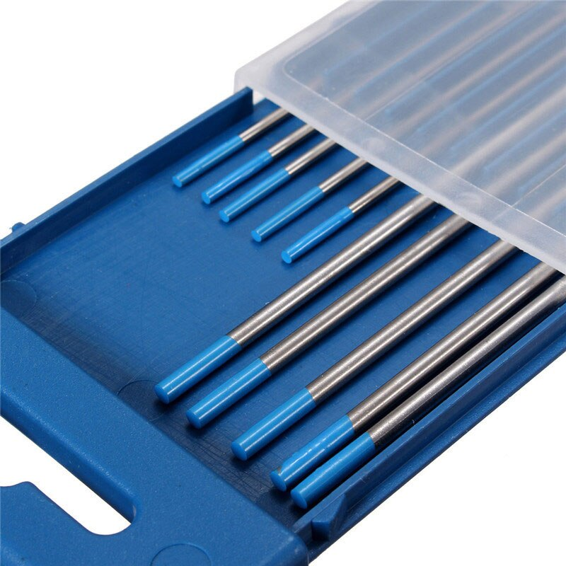 10pcs/set 2% Lanthanated WL20 TIG Welding Rods Tungsten Electrode 1.6mmx150mm+2.4mmx175mm for Welding Tools