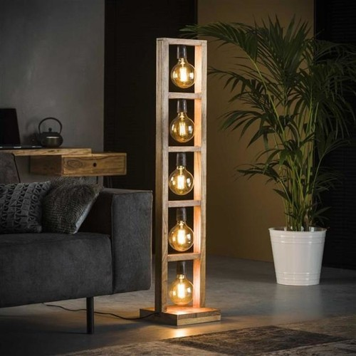 Table Floor Lamp Smyrna Wooden Floor Lamp Stylish Indoor Lighting Custom Design