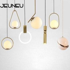 Nordic postmodern Indoor Decorations Pendant Lamp E27 LED simplicity Glass Pendant Lights for Restaurant bedside Hanging light