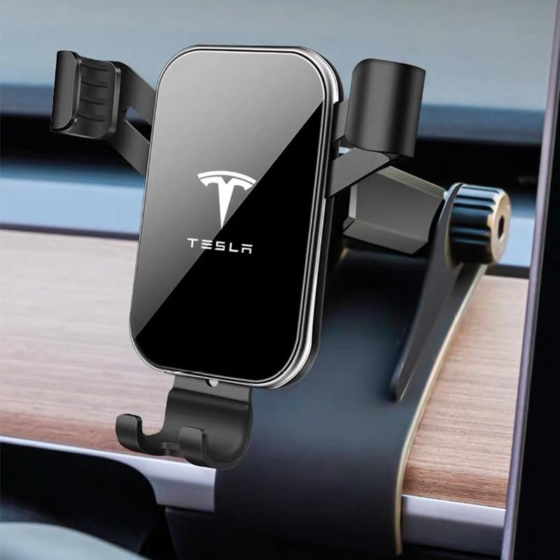 Soporte para teléfono de coche soporte para salpicadero soporte de teléfono móvil para coche soporte de pantalla GPS para Tesla Model 3 2017-2019