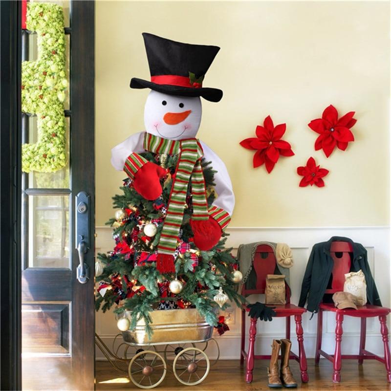 Muñeco De nieve De alta calidad, Arbol De Navidad, Topper De tela,...