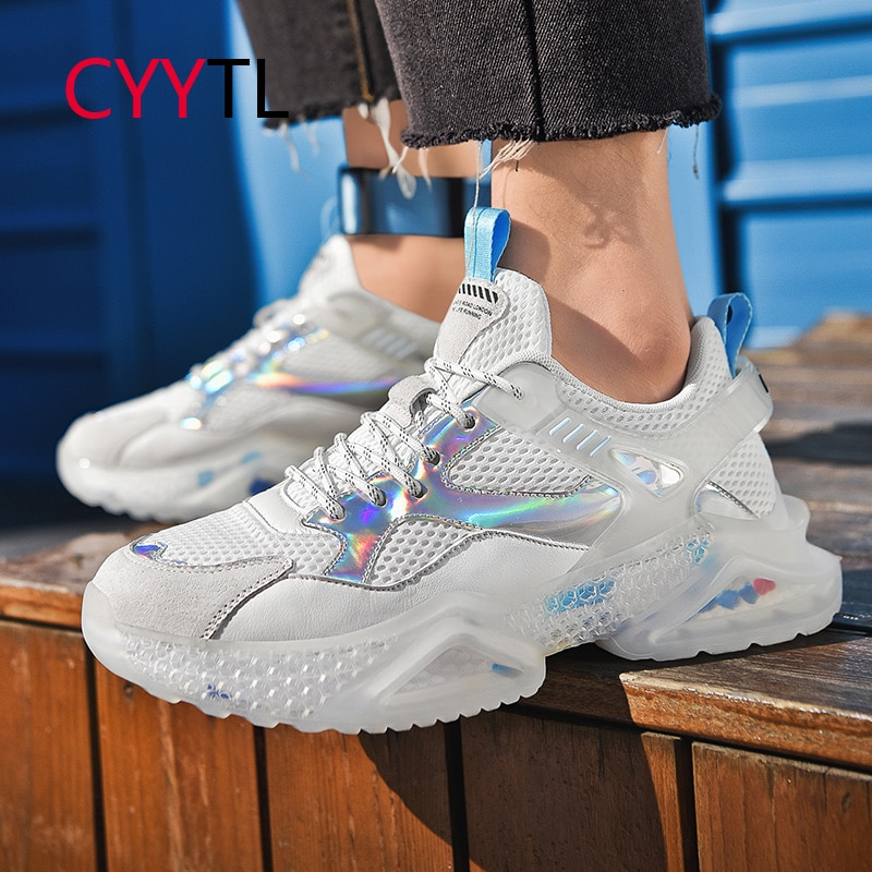 CYYTL Spring Summer TPU Luminous Men's Sneakers Breathable Old Fashion Shoes INS Casual Sports All-match Increased Boys Tennis