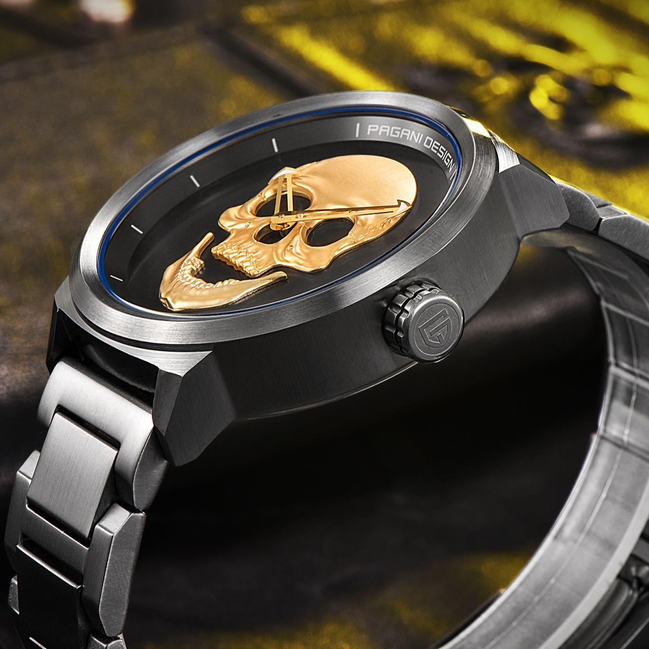 Pagani Design Top Brand Men's Military Sports Quartz Watch Luxury Fashion Retro 3D Skeleton Watch Men Automatic Waterproof Clock enlarge