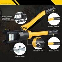 12T Hexagonal Confining Pressure Hydraulic Crimping Pliers Hardened Steel Hydraulic Pliers 22mm Stroke Nine Mold Hydraulic Tools