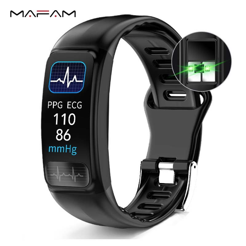 Смарт-браслет MAFAM P12 ECG, пульсометр, PPG, смарт-браслет, кровяное давление, часы, водонепроницаемый браслет для Xiaomi Huawei Phone