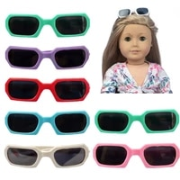 2021 new fit 17 inch 43cm baby new born doll accessories red black green glasses for baby birthday gift