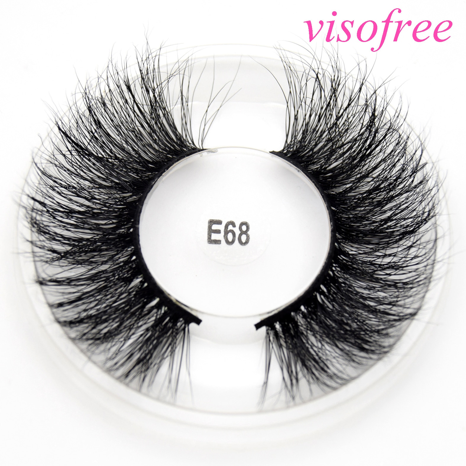 Pestañas postizas visofree, 25mm, dramáticas, largas, pelo de visón, pestañas postizas 5D, pestañas gruesas entrecruzadas, pestañas onduladas, extensión de maquillaje E68