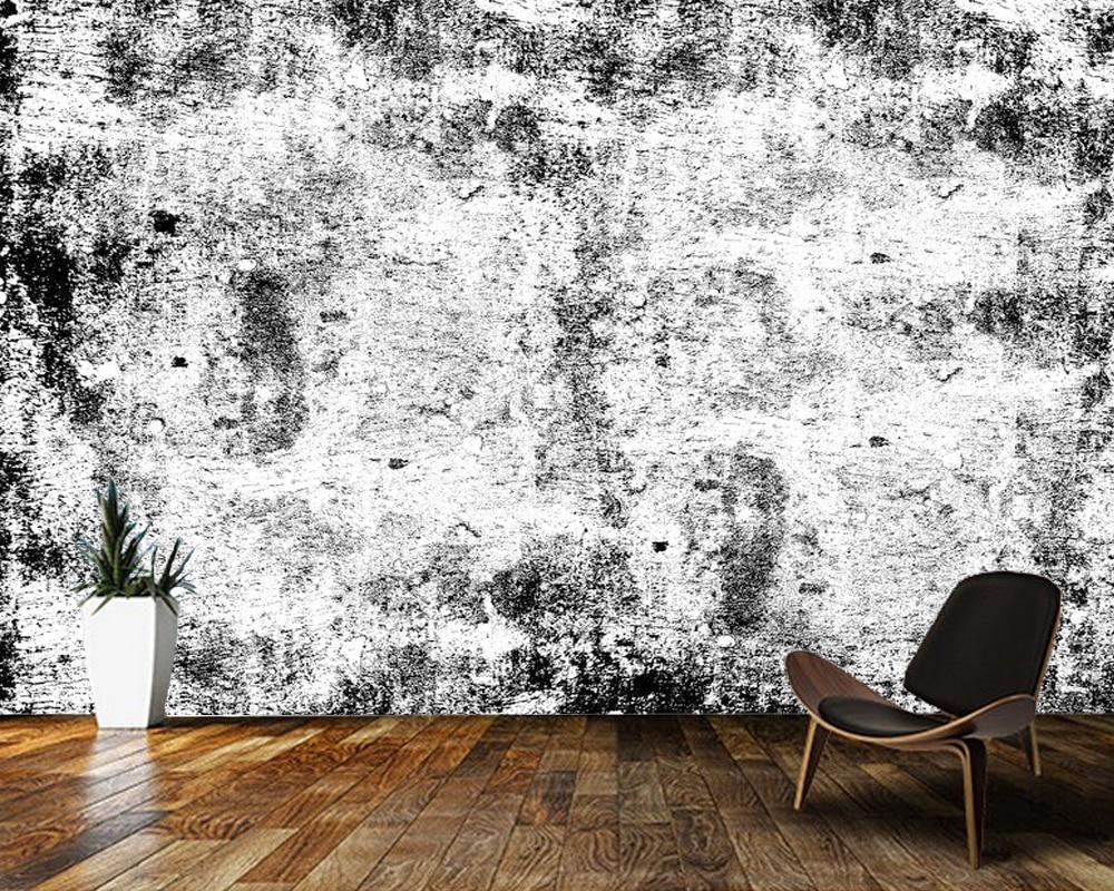 Papel de pared blanco y negro textura abstracta 3d Papel pintado, Sala dormitorio papeles tapiz decoración del hogar bar Café mural