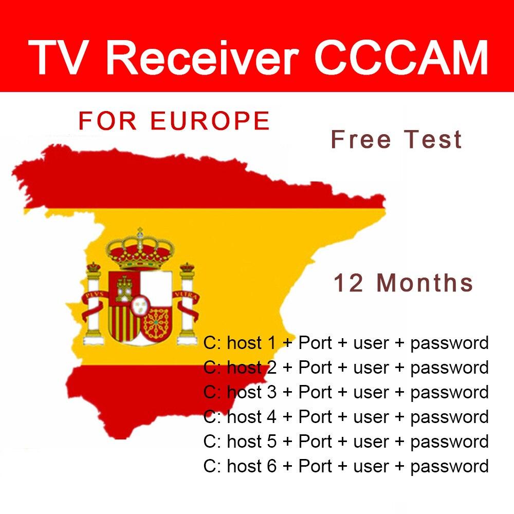 Receptor de tv cccam oscam estável clines para europa espanha portugal alemanha polónia hd DVB-S2 suporte receptor de tv por satélite hd completo