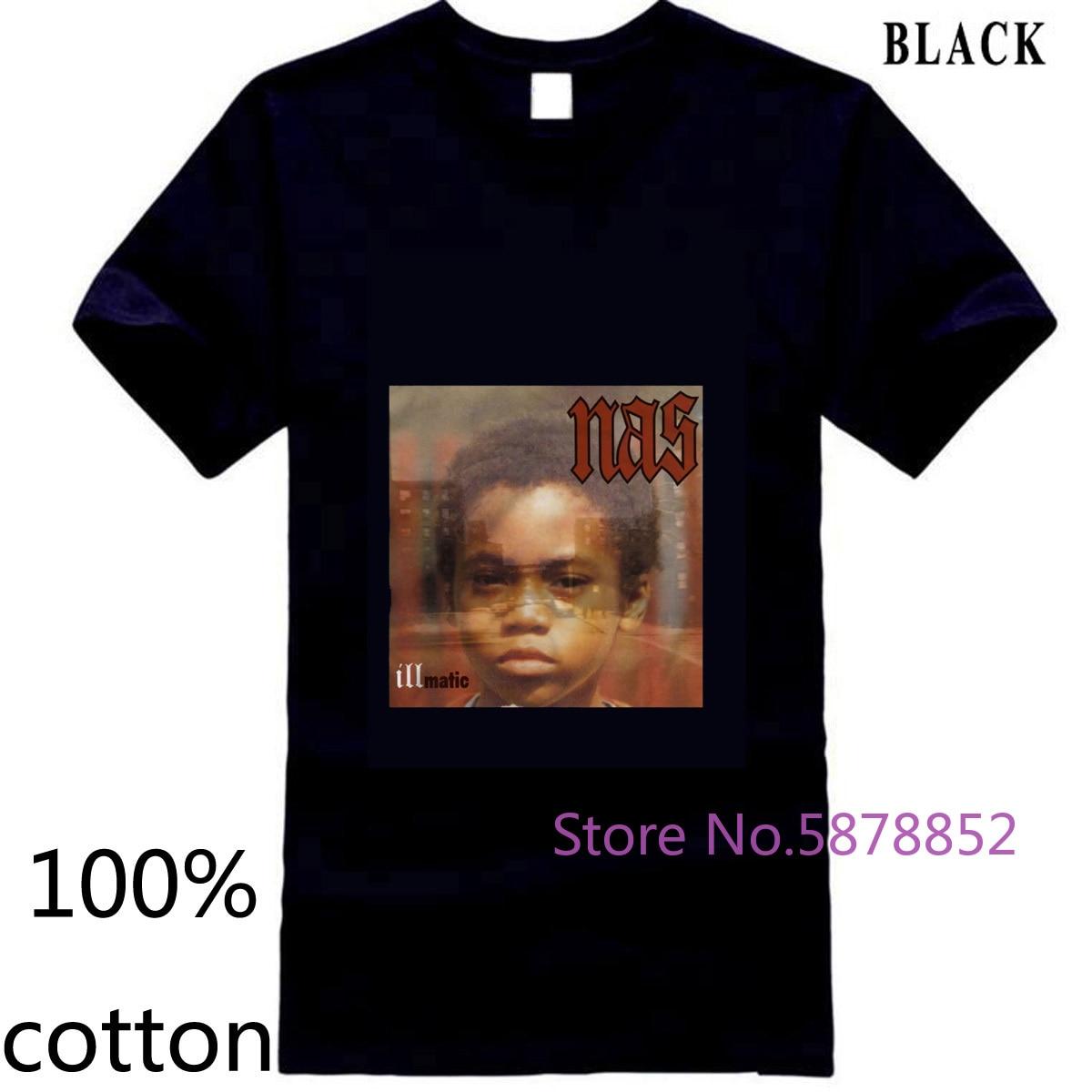 Nas Illmatic Album Cover hombre/mujer estampado marca en venta nueva camiseta para hombre Camiseta tops camisetas 100% algodón cuello redondo 3XL 4XL