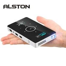 ALSTON C6 Mini 4K DLP Android projektör WiFi Bluetooth 4.0 taşınabilir LED Video projektör ev sinema desteği Miracast Airplay