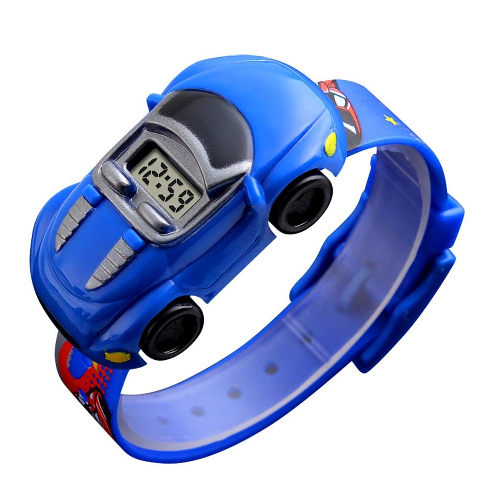Cartoon Car Children Watch Toy for Boy Baby Fashion Electronic Watches Innovative Car Shape Toy Watch Kids Xmas Gift