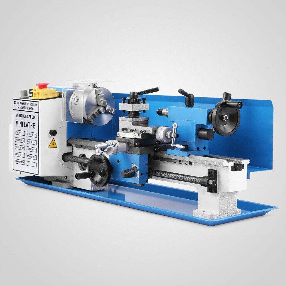550W Precision Mini Metal Lathe Metalworking Variable Speed Metalworking MIni Lathe Processing 18 Threads Automatic Feed