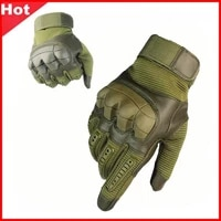 outdoor sports tactical gloves climbing camping cycling gloves mens full gloves military armor painball protection gloves