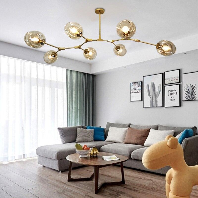 الحديثة الشمال الثريا مصباح لغرفة المعيشة مصمم شخصية الإبداعية غرفة الطعام ، غرفة نوم فيلا أضواء الثريا الجزيئية