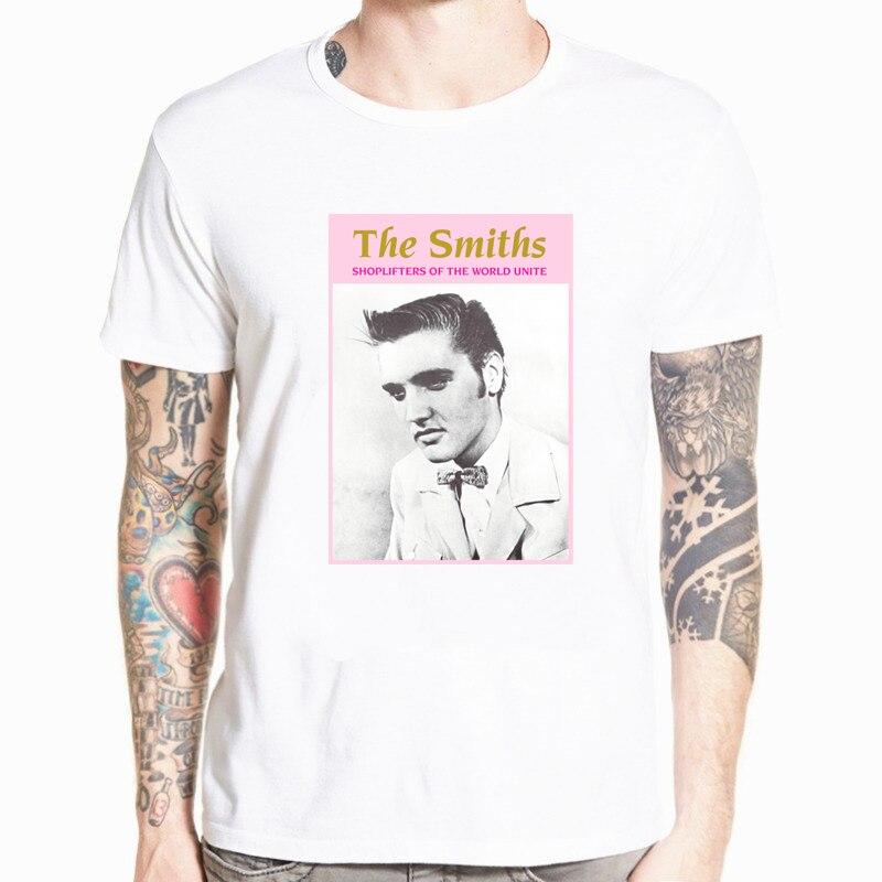Мужская белая футболка SMITHS SHOPLIFTERS ELVIS PRESLEY английский MORRISSEY футболки хип хоп футболка размера плюс S-5XL