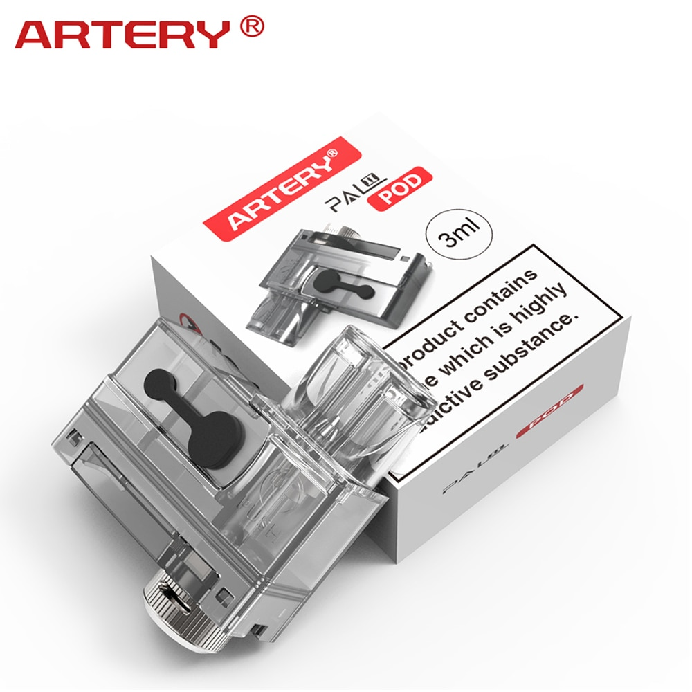 4 pçs original artéria pal ii pod cartucho 3ml capacidade para artéria pal ii kit starter kit cigarro eletrônico substituição pod