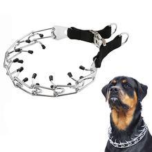 Dog Prong Training Collar, Metal Choke Pinch Dog Collar with Comfort Tips