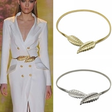 New Flower Leaf Shape Wedding Designer Elastic Belts Women Girl Stretch Skinny Waist Belt Cummerbund