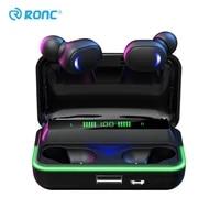 e10 tws gamer headset wireless headphone hifi stereo bluetooth earphones low delay sports waterproof earbud with led display
