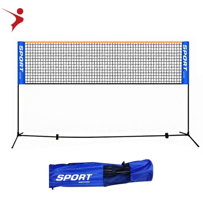 Regail 5 meters portable folding badminton net rack tennis net rack indoor and outdoor universal adjustable badminton rack