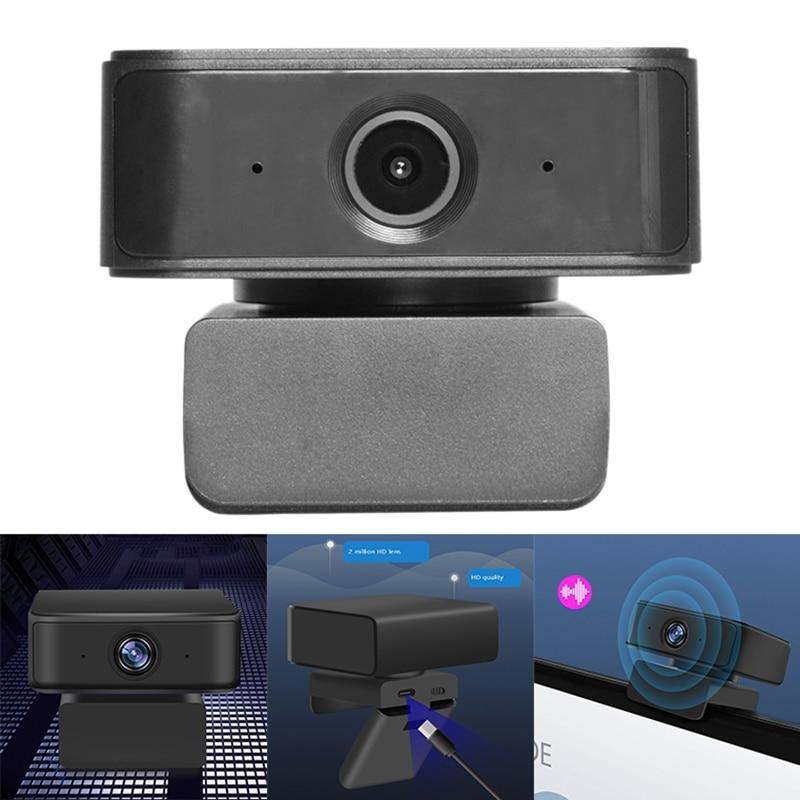 كاميرا ويب 1080P HD مع ميكروفون لإلغاء الضوضاء AI وظيفة تتبع وتكبير 360 درجة كاميرا للتوصيل والتشغيل