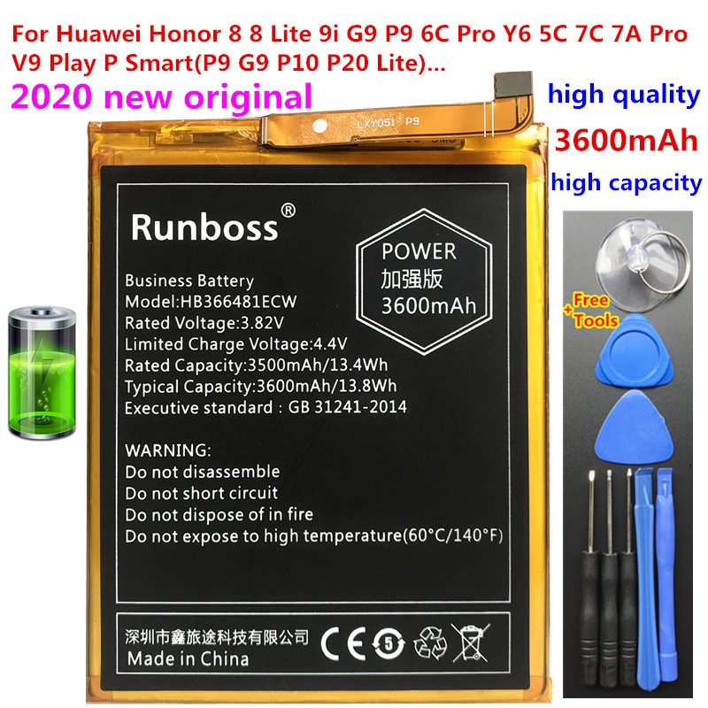 3600mAh HB366481ECW Battery For Huawei Honor 8 5C FRD-L19 FRD-L10 FRD-L09 FRD-AL00 FRD L19 L10 L09 AL00 P Smart FIG-LX1 FIG-LA1 fender dlx nashville tele rw frd