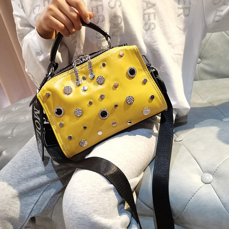 حقيبة يد نسائية ببرشام من العلامة التجارية Ita حقيبة الماس بوسطن حقيبة 2021 مصمم حقيبة كروسبودي حقيبة كتف رئيسية عصرية