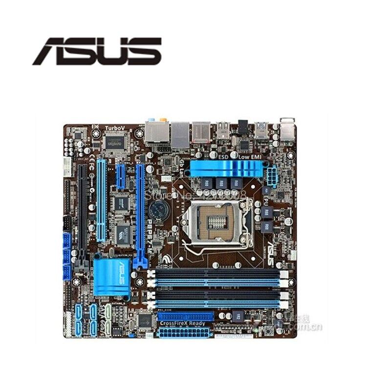 Socket LGA 1155 USB3.0 SATA3.0 para ASUS P8P67-M placa base de escritorio P67 i3 i5 i7 DDR3 placa base usada